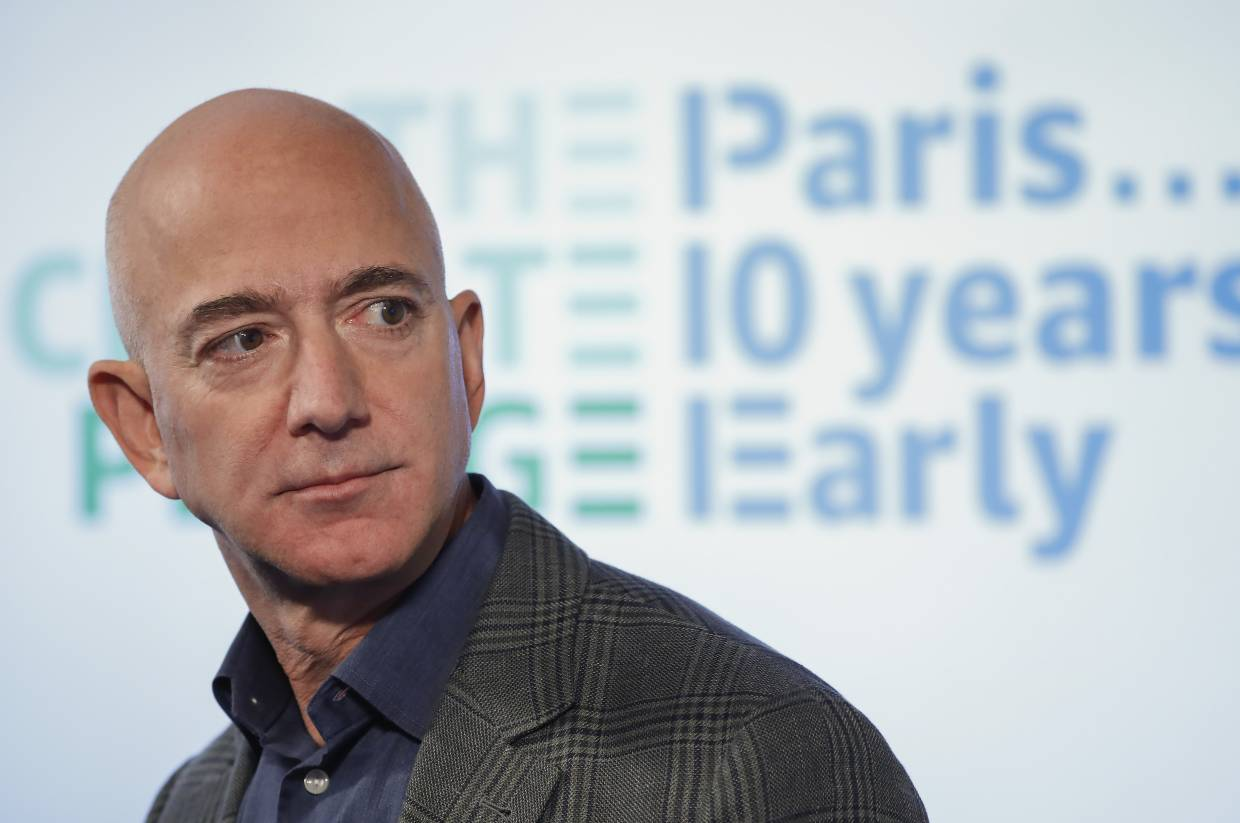 It's great that Bezos is giving this money – but it certainly leaves him with all the power, doesn't it? — AP