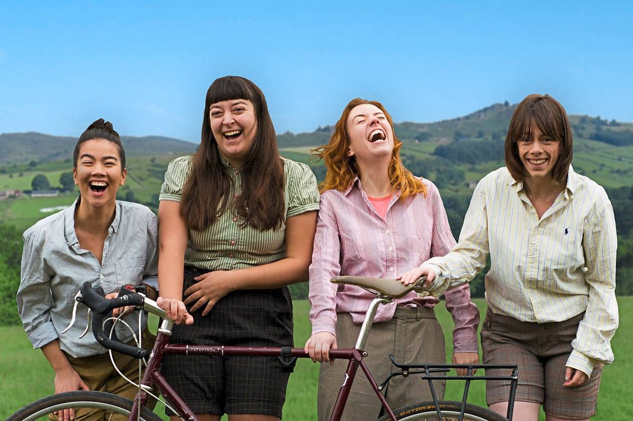 The HandleBards' all-female cast (from left) Tika Mu'tamir, Ellice Stevens, Roisin Brehony and Katie Sherrard, will be presenting Shakespeare's 'The Tempest'.  Photo: The HandleBards