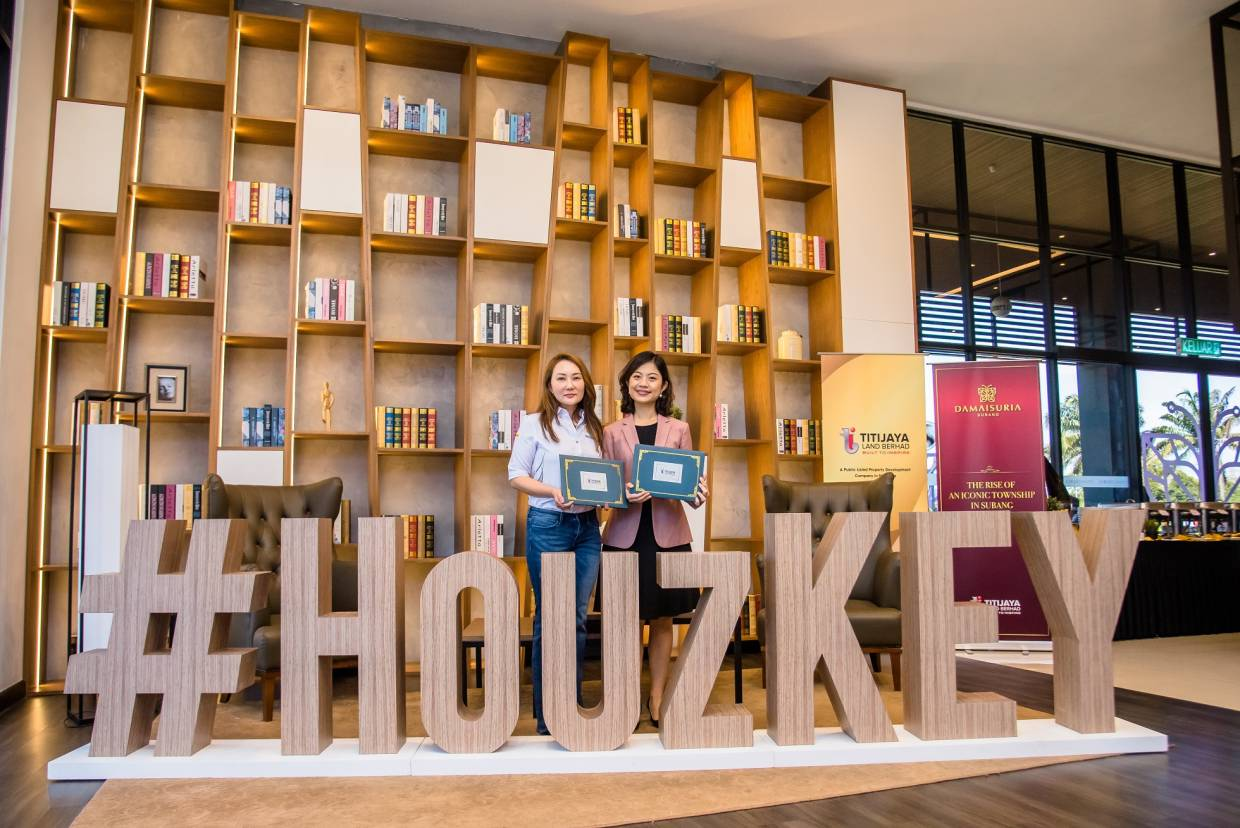 Titijaya Land Bhd executive director Charmaine Lim Puay Fung (right) and Maybank Real Estate Ventures managing director Sally Lye Saw at the launch of HouzKEY.