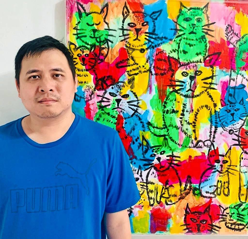 Cat lovers might like Tan Seng Kit's multi-coloured artwork on felines. — Photos: Art4Love