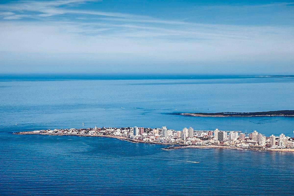 An aerial photo showing the Punta del Este skyline. — dpa