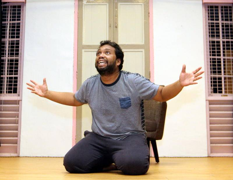 'I do wonder a lot about the life that we all go through and if there's any meaning to it besides the meaning that we place on it,' says actor Ashraf. Photo: The Star/Azlina Abdullah