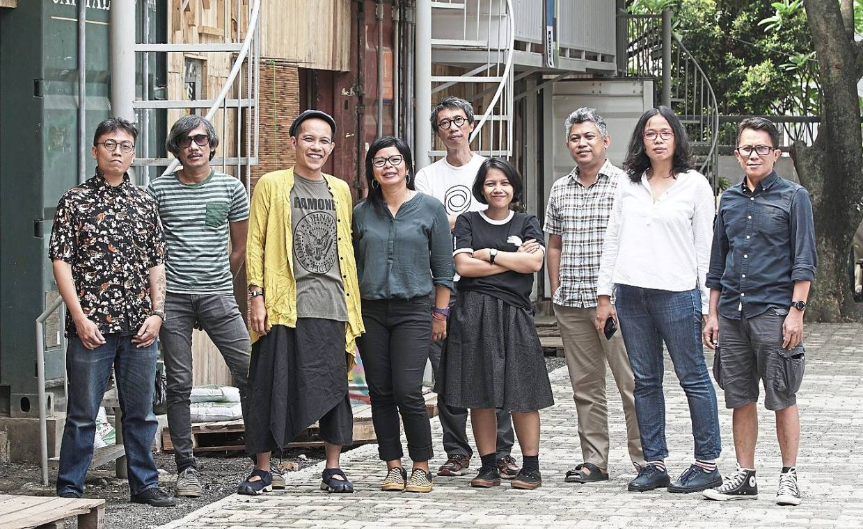 Creative force: Jakarta-based art collective Ruangrupa is best known for its intense social commentaries in various artistic mediums, balancing them with bright colours and humour. Photo: Ruangrupa