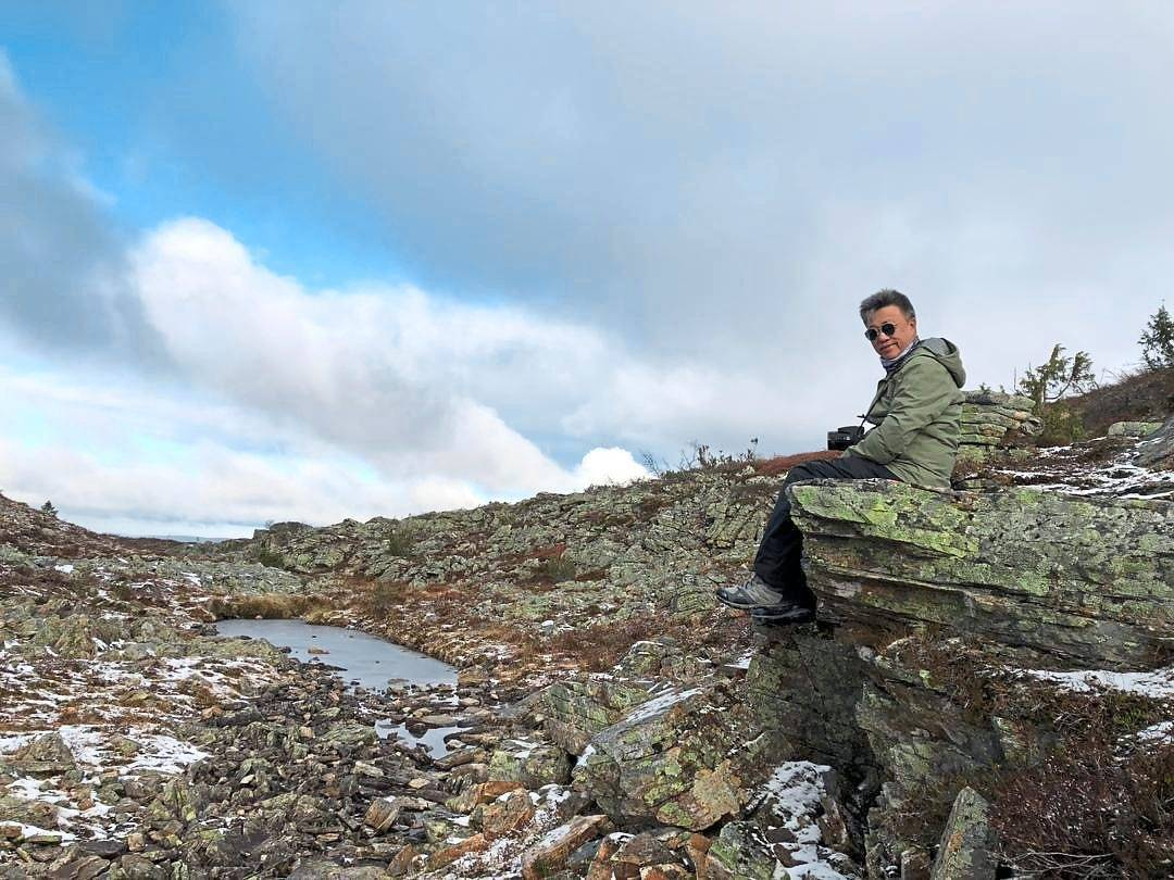 The writer at Urho Kekkonen National Park in Finland in October 2019. Locals note that snowfall in the area had become more difficult to predict, unlike in previous years. — FLORENCE TEH