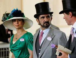 Dubai's ruler Sheikh Mohammed and his former wife Princess Haya