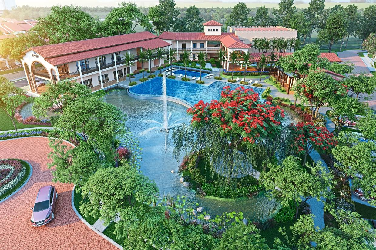 Good sales: An artist's impression showcasing an aerial view of the Setia Safiro clubhouse.  Goh says 90% of the 166 units from the first phase have been sold out.