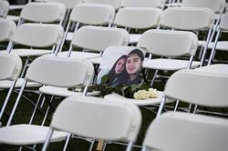 MH17 relatives protest against Russia with 298 empty chairs on eve of trial