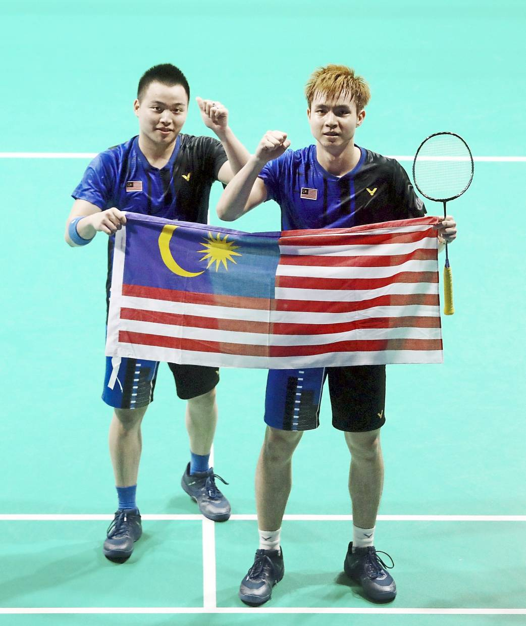 Men's doubles pair Aaron Chia (left) and Soh Wooi Yik.