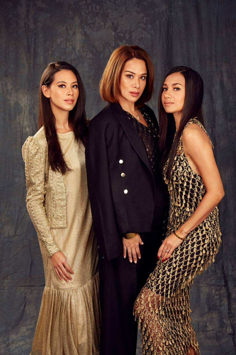 (from left) Hannah Lo, Datin Elaine Daly and Shaleen Cheah.
