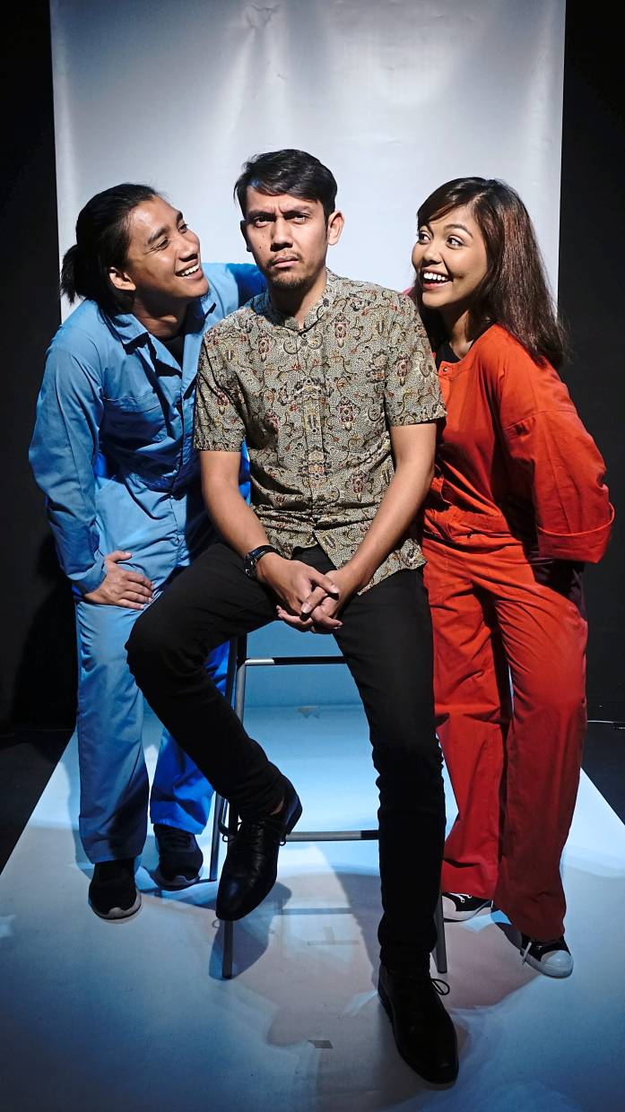 The cast of '24 Jam Dalam 37 Tahun' (from left) Anwar, Shah and Anissa. Photo: Haziq Azhar