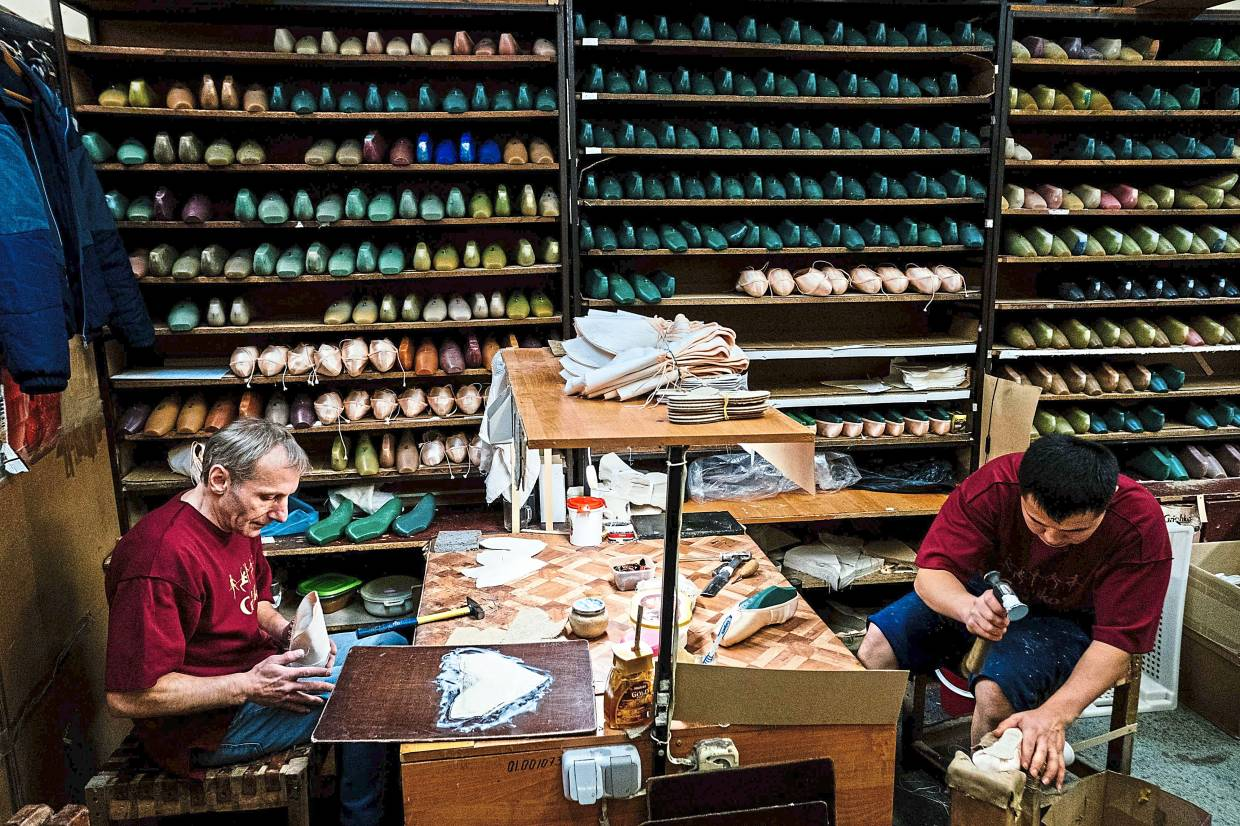 Born in the chaos of the collapse of the Soviet Union, the Grishko family business has emerged among the top makers in the world of dance shoes, notably classic ballet pointe shoes, worn on the world's great stages. Photo: AFP