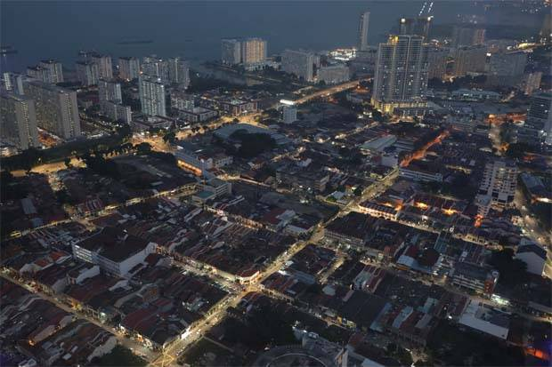 An aerial view of Penang. - Reuters