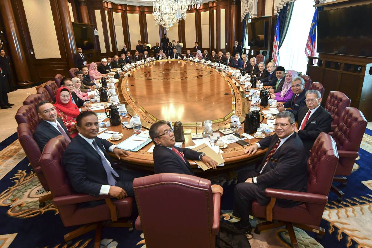 Image result for images of muhyiddin and his cabinet minister