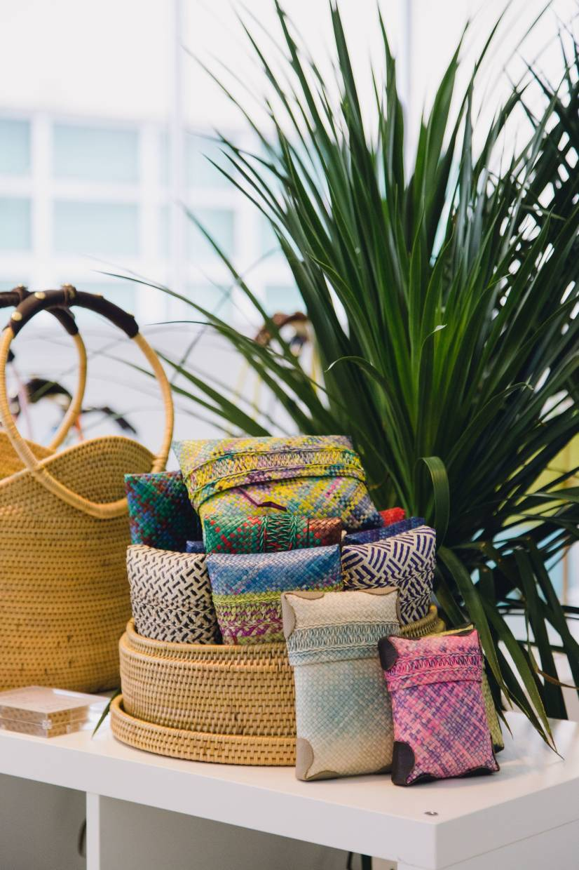 Mengkuang woven products made by the Mah Meri people for Earth Heir. - Earth Heir