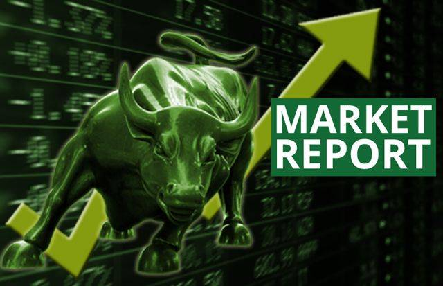 The gains in the stock market came amid the decline in crude oil prices and crude palm oil for third month delivery.