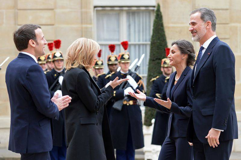 France S Macron Models Virus Proof Greeting The Namaste The Star