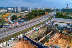 Overall construction of MRT 2 SSP line 70% completed