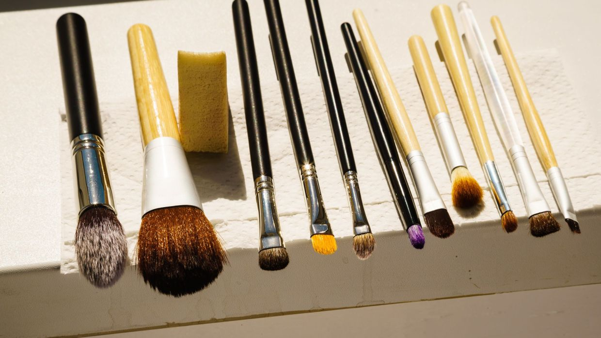 If you're guilty of not washing your makeup brushes, this staycation is a great time to do so.
