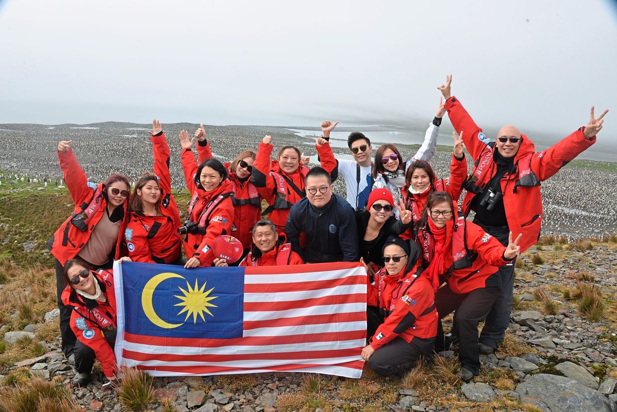 Well done, Malaysians! The columnist and his group made it down south to Antarctica in early March. This was Leesan's fourth trip to the continent. — LEESAN