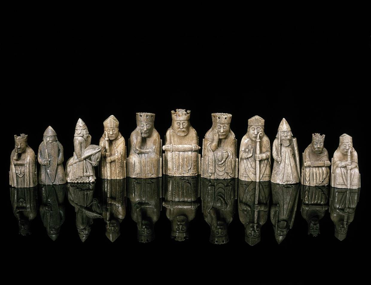 Some of the original Lewis chessmen, which can be seen at the National Museum of Scotland. Photo: National Museums Scotland