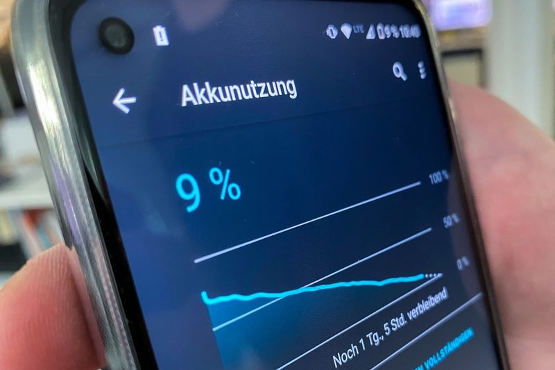 If you leave the Motorola G8 Power unattended, the battery will last a week or more. — Till Simon Nagel/dpa