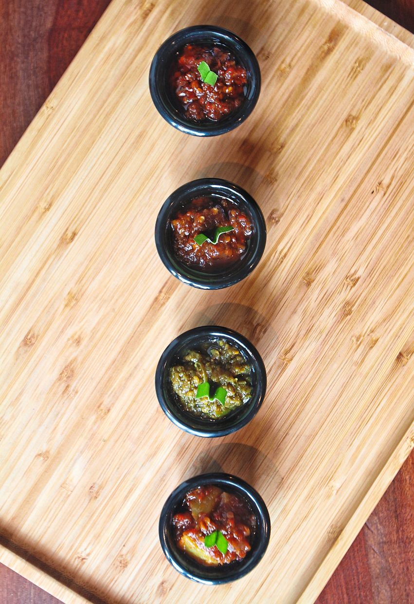 Some variations of sambal offered at Nale The Nasi Lemak Co.