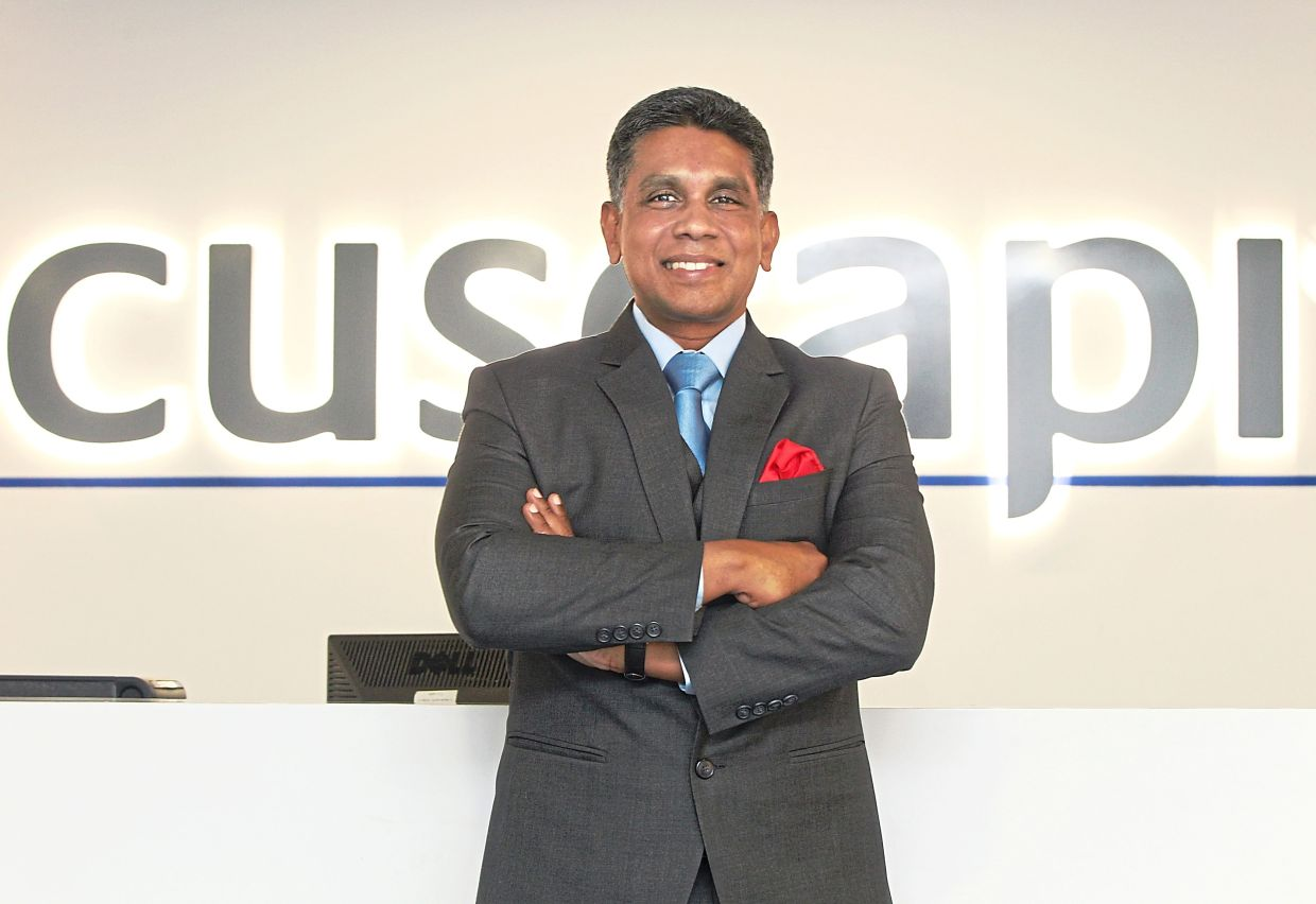 To date, Cuscapi CEO Anthony Gerald(pic) has implemented cost trimming measures, revamped an existing product and rolled out another product, as well as ventured into new South-East Asian markets.