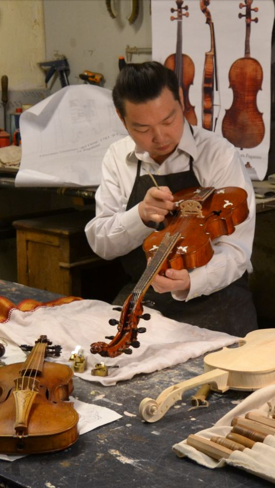 Tan has been fascinated by the art of making string instruments since high school.