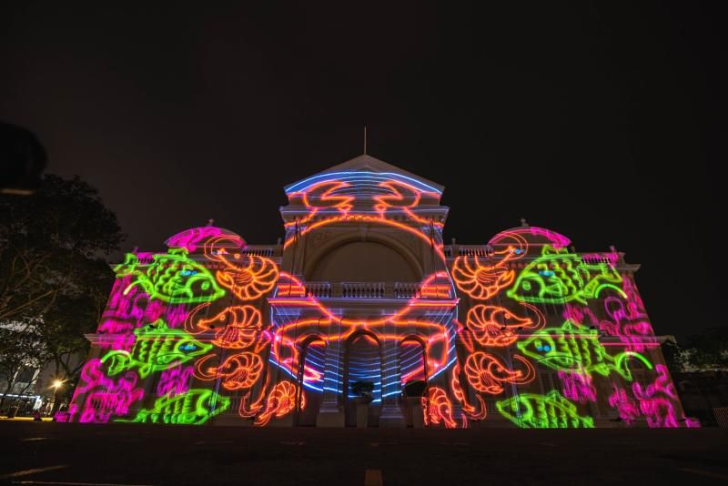 Local projection mapping community group Filamen's colourful work at last year's George Town Festival. This year's festival in July, which was expected to feature 60% homegrown creative arts talent, has been cancelled. Photo: Filamen