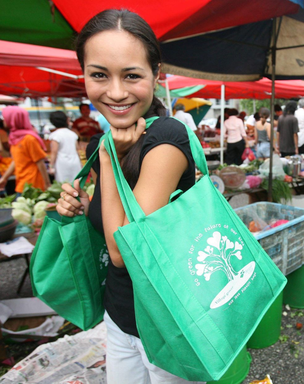 Maya Karin ditched single use plastic bags back in 2006, long before it became fashionable to do so. She's made a lifelong committment to championing environmental issues. — Filepics