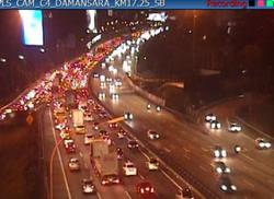 Major traffic congestion reported in both directions of North-South Expressway
