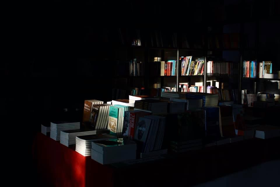 Gerakbudaya put up a darkened bookshop image on its Facebook page, but urge customers to continue supporting the store through the #StayHome&ReadBooks online campaign. Photo: Gerakbudaya