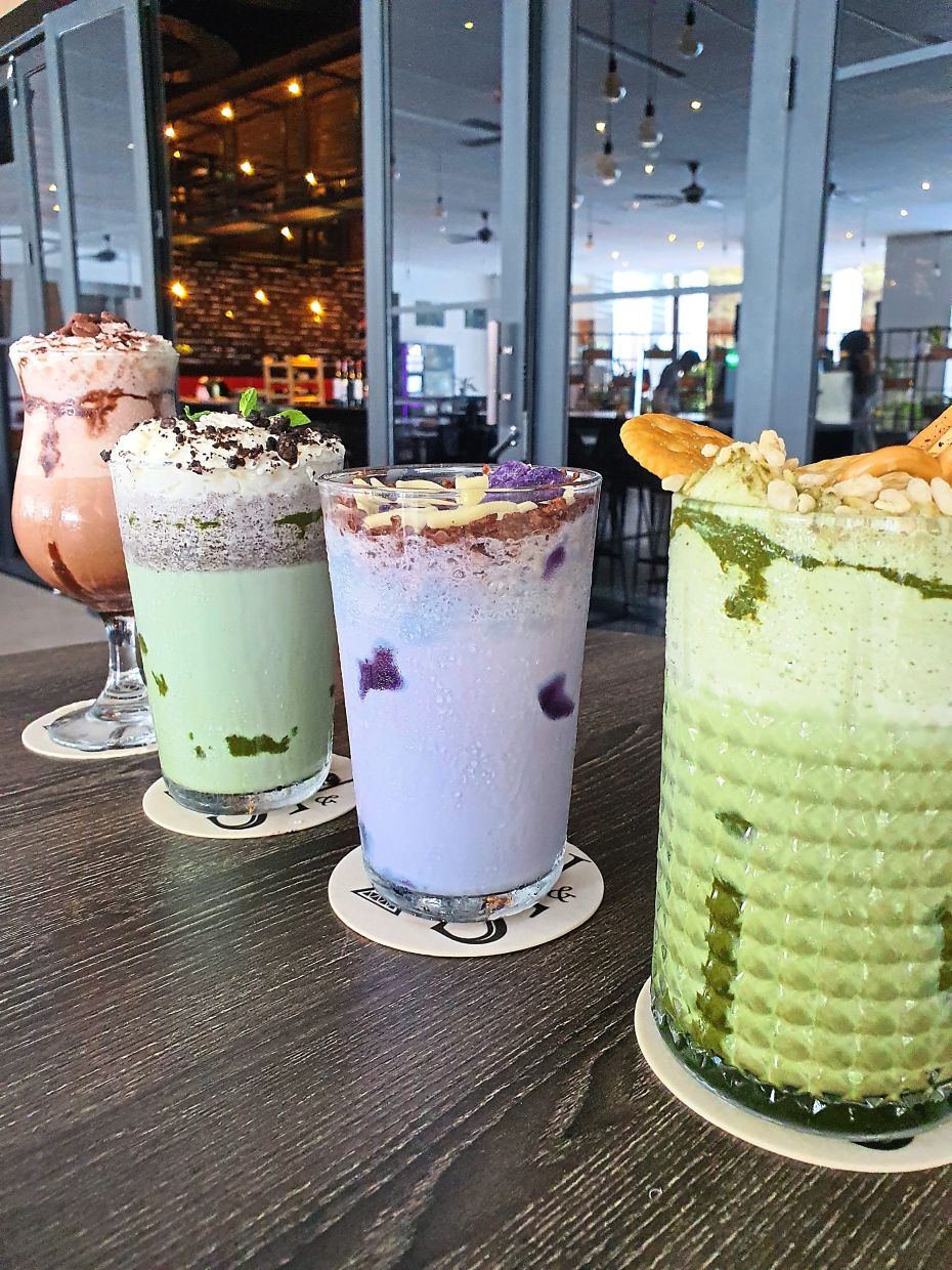 Purple Yam and Green Tea Parfait are among the new milkshake varieties.