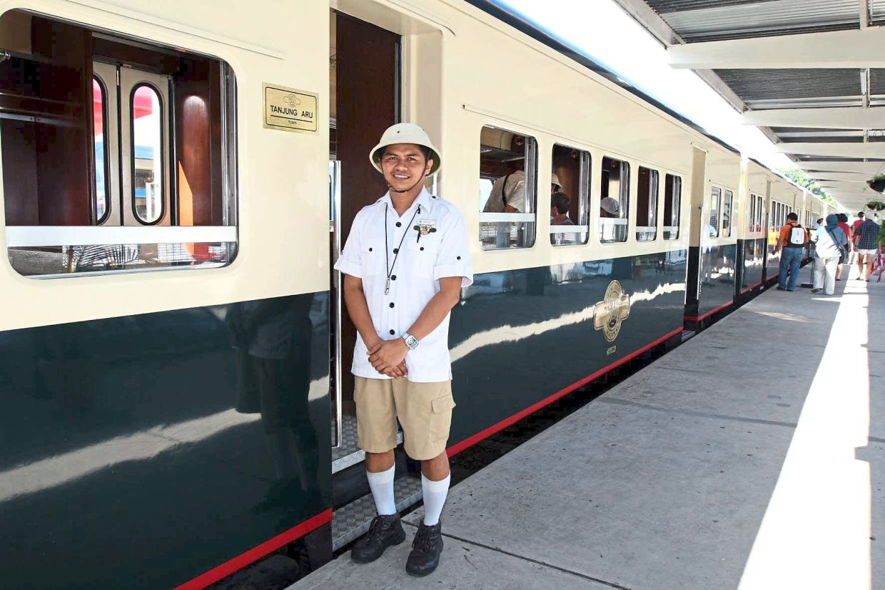 The North Borneo Railway service is a unique luxury travel experience in Sabah. — Filepic