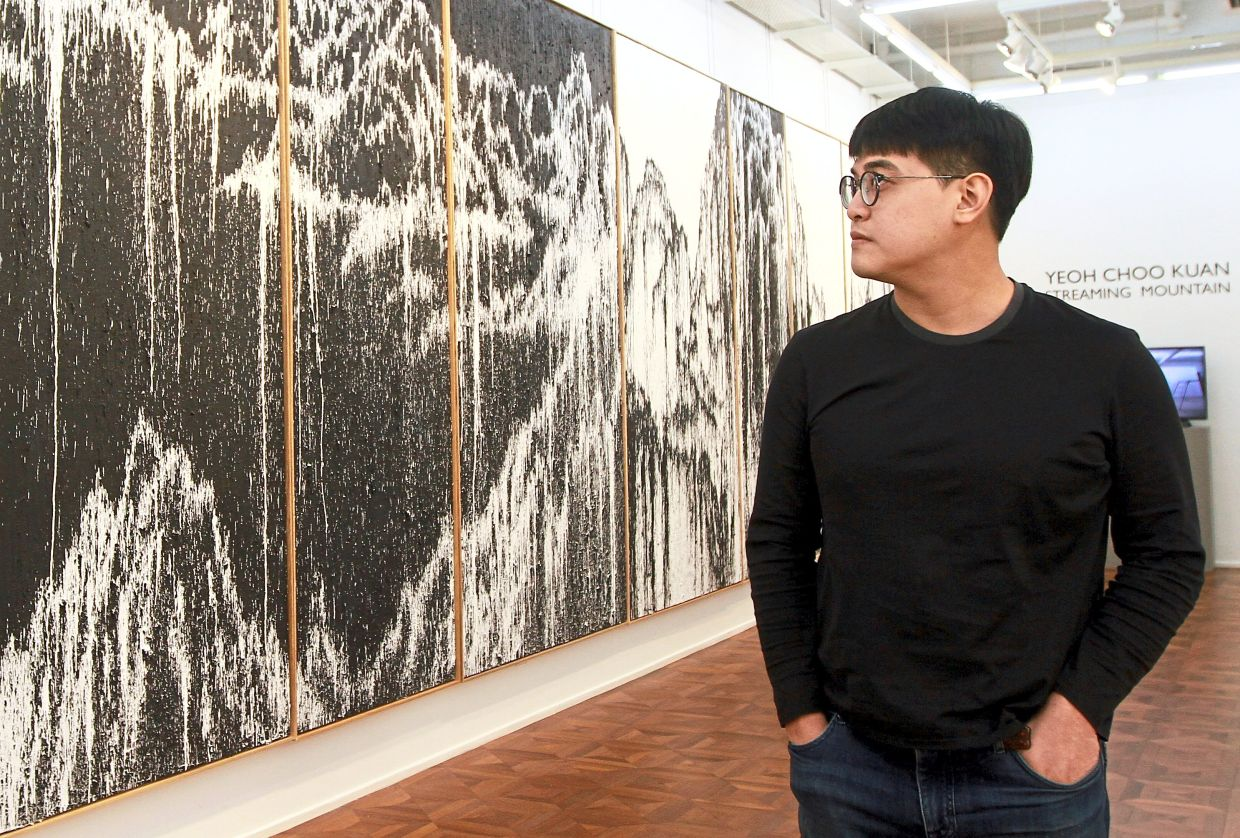 Richard Koh Fine Art presented Yeoh Choo Kuan's works at Art Basel Hong Kong's Online Viewing Room platform last weekend. Photo: The Star/Chan Tak Kong