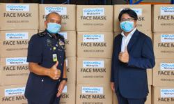 Coway Malaysia donates thousands of protective face masks to PDRM