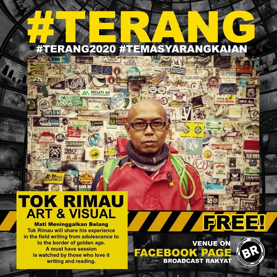 A programme with artist Tok Rimau on Broadcast Rakyat's 'Terang' online series.