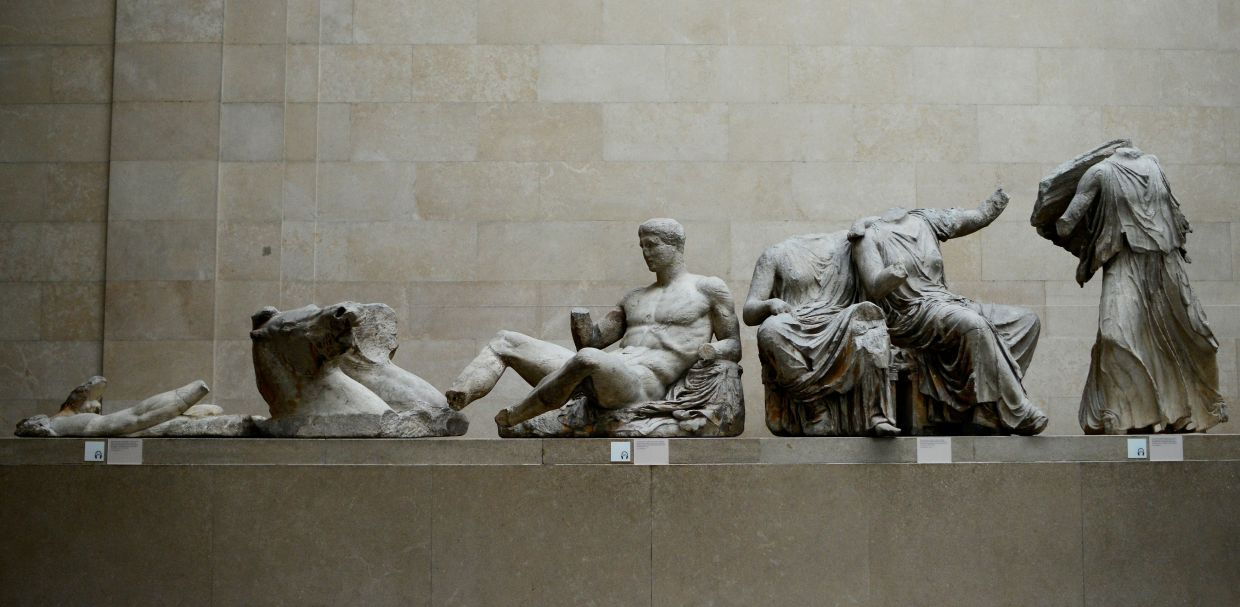 The Parthenon Marbles, a collection of stone objects, inscriptions and sculptures, also known as the Elgin Marbles, are displayed at the British Museum in London in this file photo.  - REUTERS