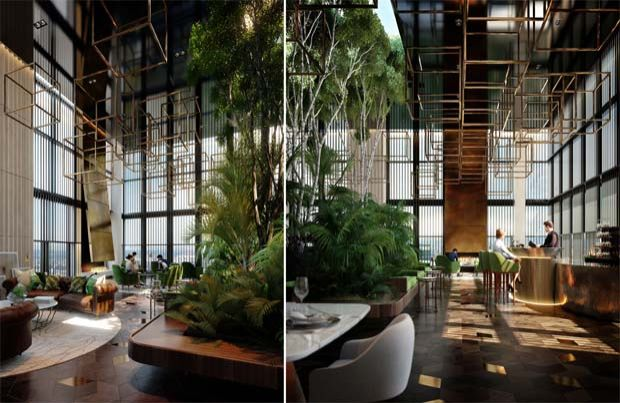 The number of private unit deliveries is expected to increase further in the remaining quarters of FY20, driven by the completion of Wardian in London, West Village and Yarra One in Australia. File pic shows The Sky Lounge at Wardian, a project by EcoWorld Ballymore in London