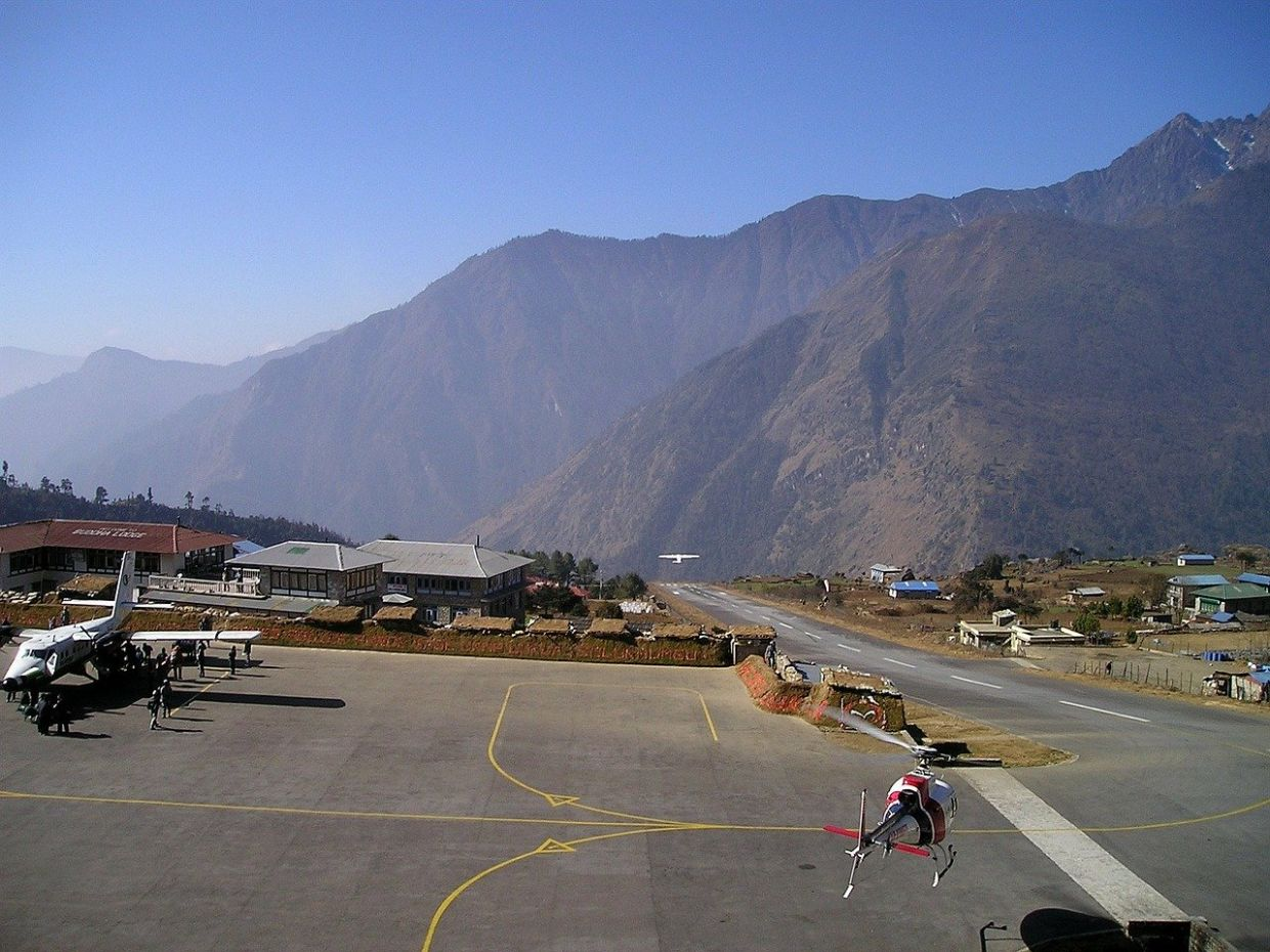 The Tenzing Hillary Airport in Lukla, Nepal. There are reportedly more than 30 Malaysians currently stranded in Nepal. - Pixabay