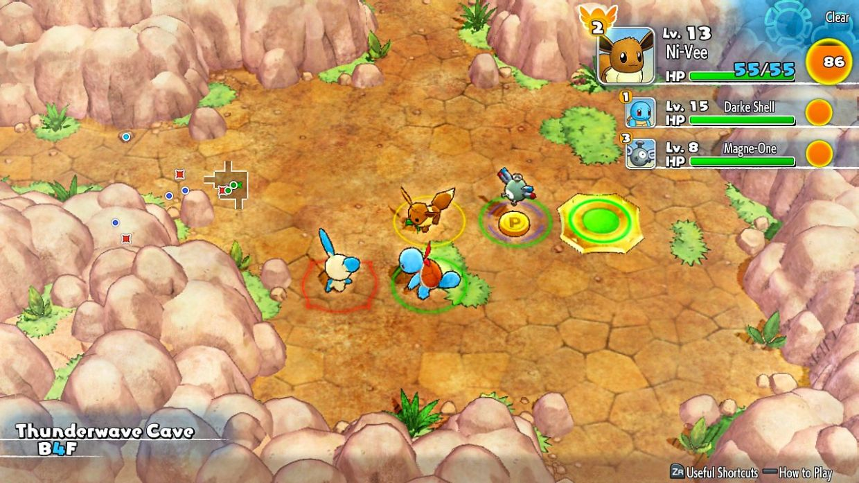 There are many things to find in a Pokemon Mystery dungeon, such as Pokemon to fight, Pokemon to befriend, Pokemon to rescue, and Pokemon items to loot. Uh, make sure you figure out which is which.