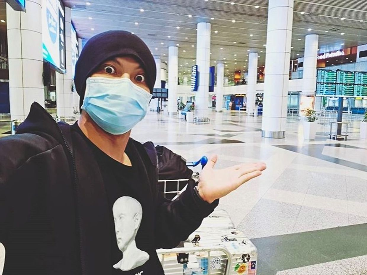 Namewee flew back to Malaysia on March 20, two days after the MCO was put in place. — Instagram