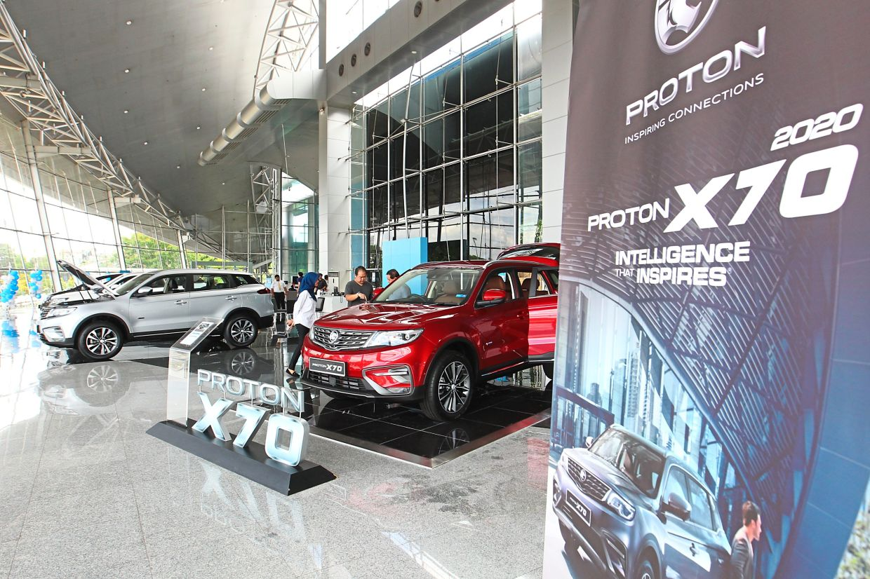 Big demand: Proton's February sales were bolstered by high demand for its existing models, including its newly launched completely-knocked-down X70.