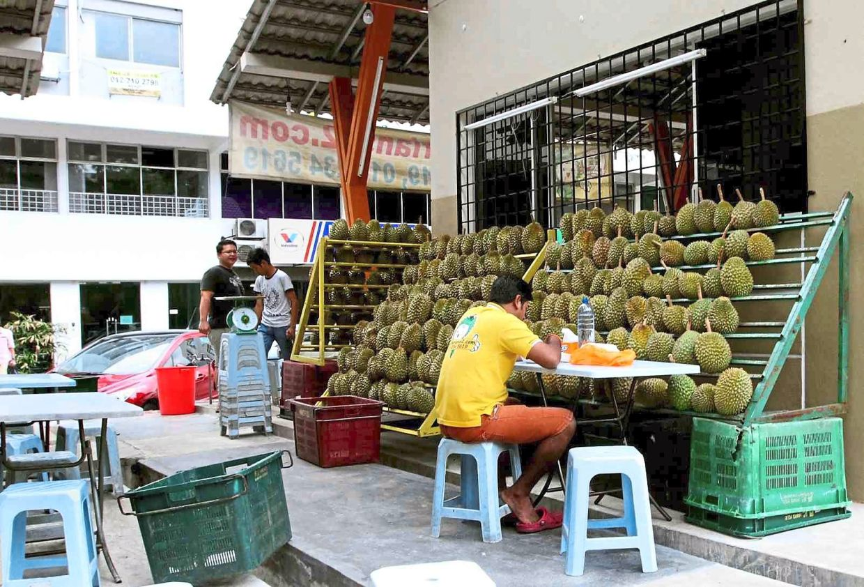 The durian seller, like other small businesses, will also be affected by the shutdown.