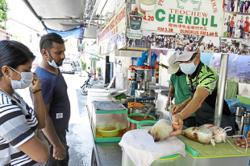 Famed Penang hawker stalls take a break