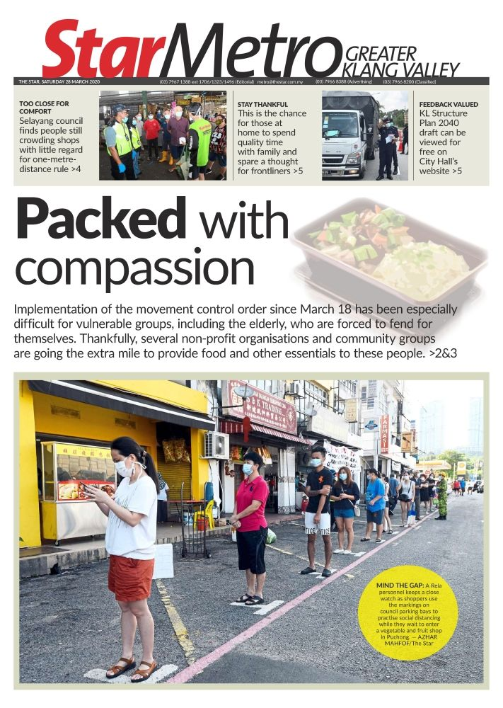 StarMetro's cover story on organisations distributing food to vulnerable groups in the Klang Valley which was published on March 28.