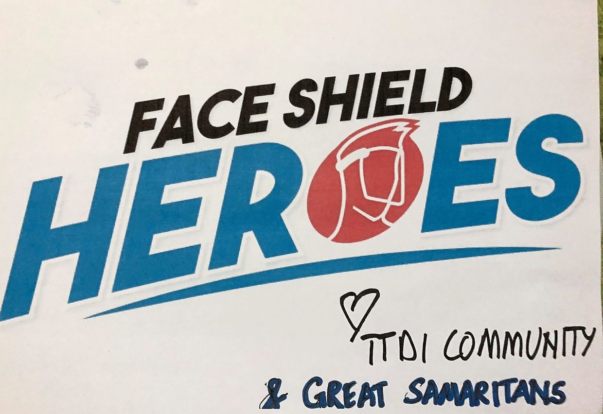 The face shields made by TTDI residents are delivered to various hospitals through the Face Shield Heroes project. Photos: Rashidah Hashim