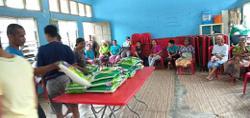 Bags of rice distributed to Orang Asli in Slim River
