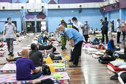 KL homeless resting safe at shelters