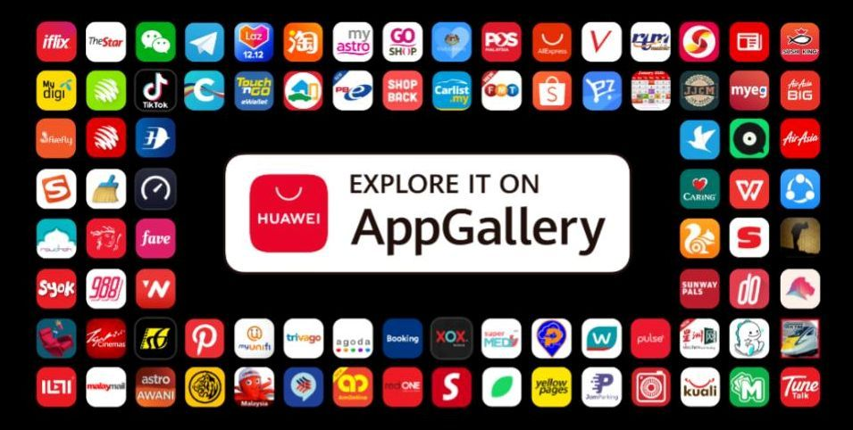 Most of the apps beloved by Malaysians can be used on Huawei's many mobile devices.